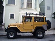 I always wanted a Toyota LandCruiser Toyota 4x4, Toyota Trucks, Toyota Cars, Toyota Land Cruiser, Carros Toyota, Adventure Car, Volkswagen, Mellow Yellow, Kendo