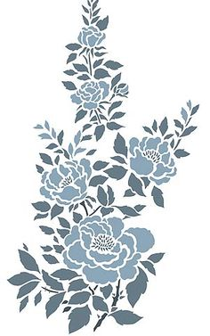 Temporary Tattoos for sale Rosa Stencil, Stencil Painting, Fabric Painting, Wall Stenciling, Stencil Patterns, Stencil Designs, Airbrush Tattoo, China Rose, Techniques Couture