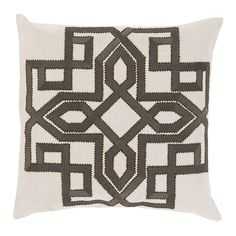 Decor 140 Catania Throw Pillow, Grey (Charcoal)