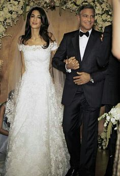 El último vestido de Oscar de la Renta fue para Amal Alamuddin.