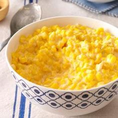 Cheddar Creamed Corn: I don't care for creamed corn but would be willing to try this.