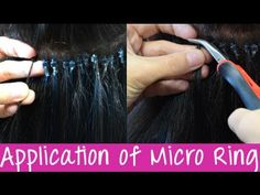 Micro Ring Cold Fusion Hair Extensions - Application | Instant Beauty ♡