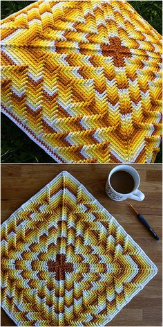 Nomad by Fate Pillow Free Crochet Pattern