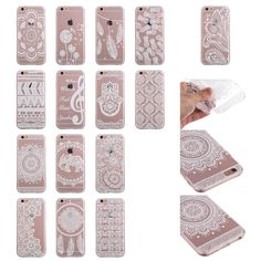 Case for i phone 6 6s 4.7 inch transparent cover for iphone 6 s s6 housing painted shell phone cases coque for i phone6 fundas