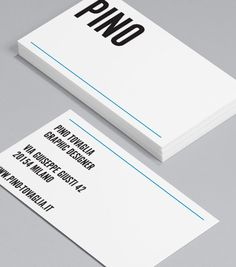 Pino Tovaglia: this Business Card comes sharply dressed in crisp '60s typography, and strongly influenced by minimalist Italian design, straight out of the monochrome world of dapper Don Draper and Mad Men. #moocards #businesscard