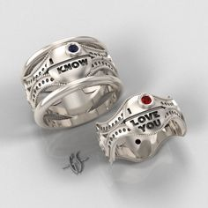http://www.geekologie.com/2013/01/22/star-wars-wedding-bands-1.jpg  haha love these!