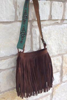 Two Bar West Brown Fringe Handbag