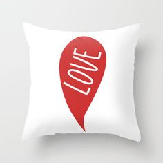 #Society6                 #love                     #LOVE #Throw #Pillow #SMUK #THINGS                  LOVE Throw Pillow by SMUK THINGS                                              http://www.seapai.com/product.aspx?PID=1607953