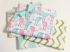 Pastel Pink and Gold Geometric Fabric Bundle for Nursery and