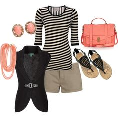 a touch of salmon, created by shauna-rogers.polyvore.com