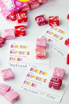 Printable Starburst Valentine Cards These printable Starburst Valentines are perfect for boy or girls, and for younger and older kids. Everyone loves Starburst! My kids are always excited about giving out Valentines in class. Classroom Valentine Cards, Kinder Valentines, Valentines Day Treats, Valentine Box, Valentine Day Crafts, Homemade Valentines, Valentine Ideas, Free Printable Valentine Cards, Valentine Cards For Friends