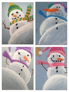 Snowman Perspective Drawing - - Snowman Perspective Drawing Basteln mit Kindern im Winter – Weihnachten Snowman Perspective Drawing Christmas Art Projects, Winter Art Projects, School Art Projects, Projects For Kids, Art 2nd Grade, Arte Elemental, Classe D'art, January Art, December