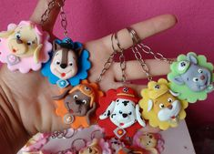 Paw Patrol Party, Pasta Flexible, Salt Dough, Clay Projects, Handicraft, Polymer Clay, Data, Baby Shower, Christmas Ornaments