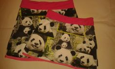 Panda skirt. DIY. Cute for my little girls.