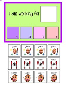 Positive Reinforcement Working Cards