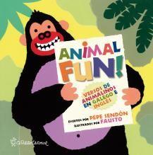 Animal fun : versos de animaliños en inglés e galego / textos de Pepe Sendón ; ilustracións de Fausto (2014)