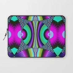 Funky pattern circles Laptop Sleeve
