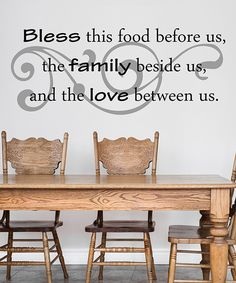 Another great find on #zulily! 'Bless This Food' Wall Decal by DecorDesigns #zulilyfinds