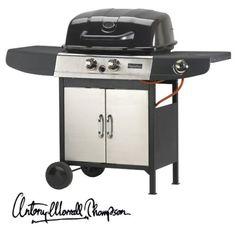 Antony Worrall Thompson Master Chef 2 Burner Plus Side Burner Gas Barbecue