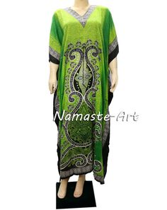 ] Indian Free Size Wear Any Wear Season Beach Cover Up Boho Casual Kaftan Dress  #Unbranded #KaftaanBeachDressMaxi #Casual