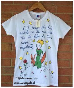 Magliette dipinte a mano Il Piccolo Principe Info cosedipinte@gmail.com