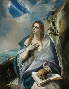 """The Penitent Magdalene El Greco (1541–1614) (1576 - 1577) oil on canvas Budapest Museum of Fine Arts El Greco, born Doménikos Theotokópoulos, (1541 – 1614) was a painter, sculptor and architect of the Spanish Renaissance. """"El Greco"""" (The Greek) was a nickname, a reference to his national Greek origin."""