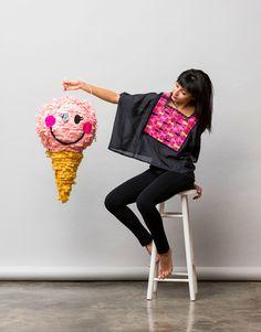 pinata-ice cream cone. Party. Make. Kids