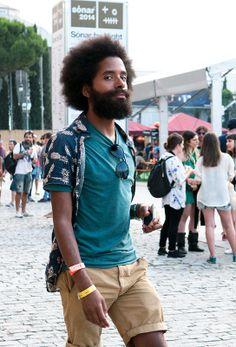 Street Style Models Sonar 2014, Barcelona : Festival Menstyle - by Lelook