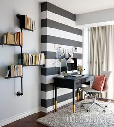 Tour interior designer and blogger Jacquelyn Clark of Lark & Linen's condo! Photo: Jason Stickley #officedesignsinterior
