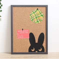 Kids Room Wall Art, Wall Art Decor, Cork Boards, Some Bunny Loves You, Back To School Supplies, Storage Places, Beginning Of School, Practical Gifts, Cute Bunny