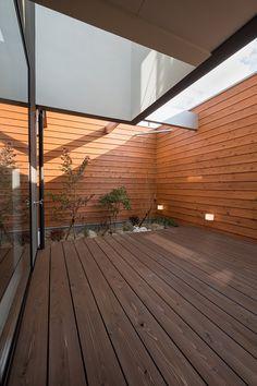 Indoor Zen Garden, Shizuoka, Terrace, Deck, Stairs, Architecture, House Styles, Places, Modern