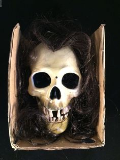 animated dropping skull floating head talking halloween prop lighted eyes video - Talking Skull Halloween