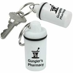 Pill Container Keytag