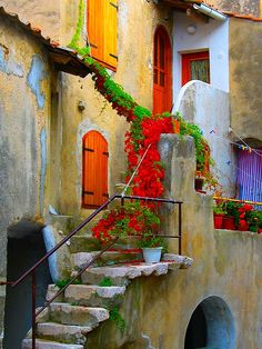 looks like montenegro. would love to spend a summer living behind that red door.