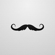 Decal Sticker Moustache waterproof Ship Specialty Permanent Vinyl Mo Black (4 X 0.87 In) - Brought to you by Avarsha.com