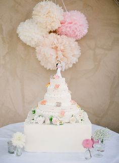 Pink and White Wedding Cake Table | photography by http://www.ktmerry.com