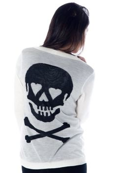 women skull clothing | Amazon.com: Debut Clothing Womens Heart Skull Cardigan: ... | Clothes