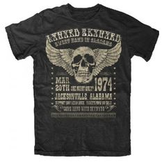 Vintage Band Tees - Lynyrd Skynyrd T-shirt - Vintage Style 1975 Graphic - http://www.band-tees.com/store/L_85000_051!FEA/Lynyrd+Skynyrd+Alabama+74+Vintage+T-shirt