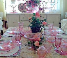 ......I have a lot of these pretty pink dishes given to me by my mother-in-law.