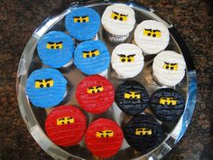 Ninjago Birthday Party cupcakes