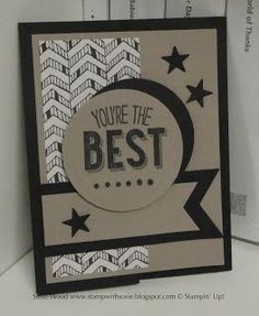 Stampin' Up!- A great FATHER'S DAY card using 'Friendly Wishes' and the Go Wild Designer Series Pack!