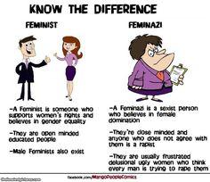 Well not really feminazis but more like misandrists