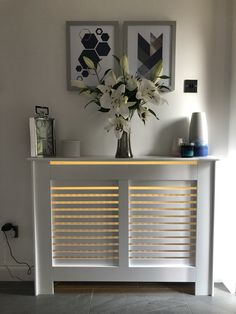 Radiator Heater Covers, Modern Radiator Cover, Home Radiators, Living Room Decor Cozy, Cover Style, Hallway Ideas, Hallway Decorating, Minimalist Bedroom, Led Strip