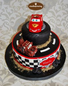 Disney Cars themed cake Cakes Pinterest Cars Cake and Birthdays