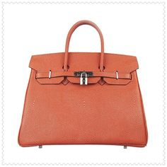 Hermes Birkin 35CM Premium Leather Orange Hardware Silver 633 is still a classic masterpiece in all designer products all over the world! Each replica Hermes Birkin 35CM are hand made. discount on sale can be a terrific invest. Most fashionable people know and probably wish to own at least one . More view http://www.hermesreplicaso.com/