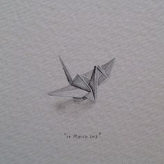 Day 69: Origami crane for Nicola and Danny on their 1st anniversary (paper). In Japanese culture, 1000 paper cranes are traditionally given as a wedding gift by the father, who is wishing a thousand years of happiness and prosperity upon the couple. 20 x 15mm. #365paintingsforants #origami #paper #crane (at Vredehoek)