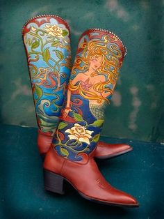 "Courtesy of Marty Snortum Studio Custom ""Mermaid"" boots Rocketbuster Boots: Nevena Christi"