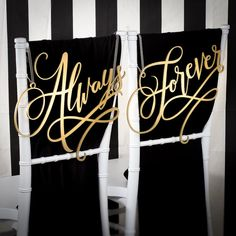 Wedding Chair Signs Decoration  Always and Forever by BetterOffWed