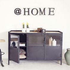 Industrie Design Metall Kommode schwarz      Auswahl:  1 x Industrie Design…