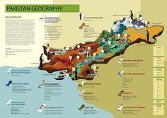 Infographics Pakistan- Geography by Asma Javeri, via Behance